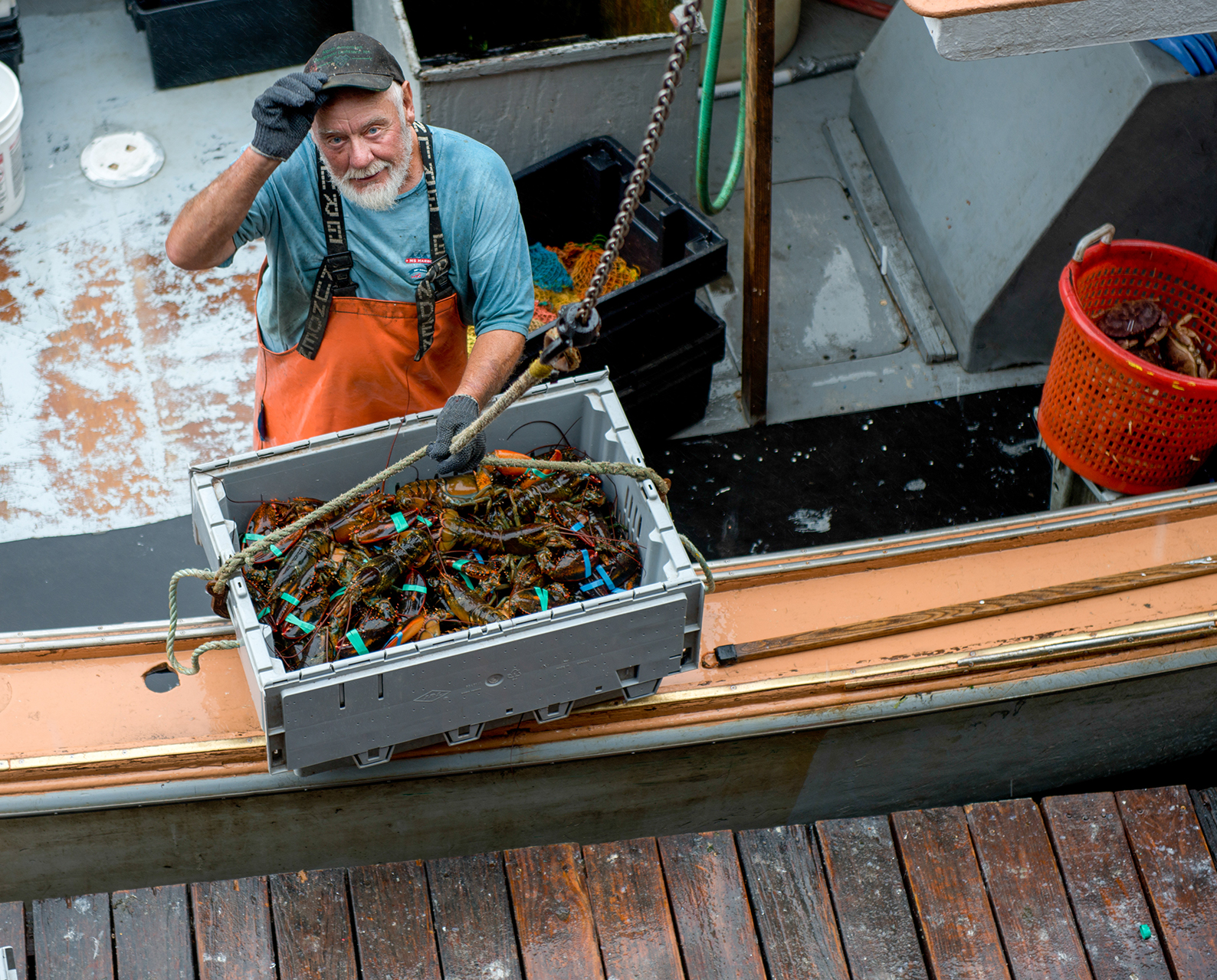 Buddy Olsen, a regular Harbor Fish supplier for 30 years