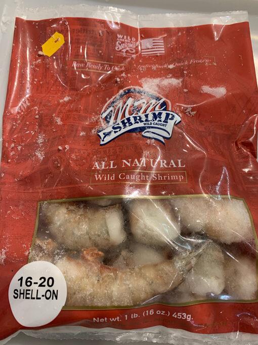 16-20 shell on shrimp
